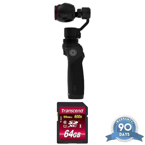 DJI Osmo Handheld 4K Camera and 3-Axis Gimbal - with Memory Card -