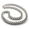 Stainless Steel 9mm Wheat Box Necklace - 24 inches - Thumbnail 0