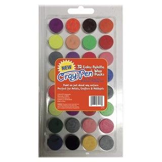 Surebonder Craypuck Wax Pallet for Cray-Pen, Assorted Colors, Set of 32