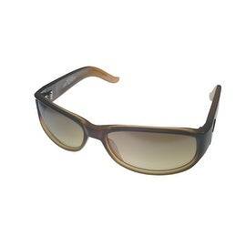 Angel Womens Sunglass Firestar Caramel Fade Plastic Wrap, Flash Brown Lens - Medium