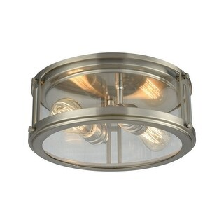 Link to Lingfield Piece - Two Light Flush Mount  Brushed Nickel Finish With Similar Items in Flush Mount Lights