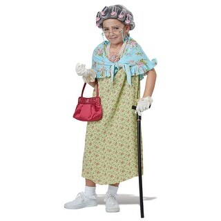 Girls Old Lady Halloween Costume Kit - standard - one size