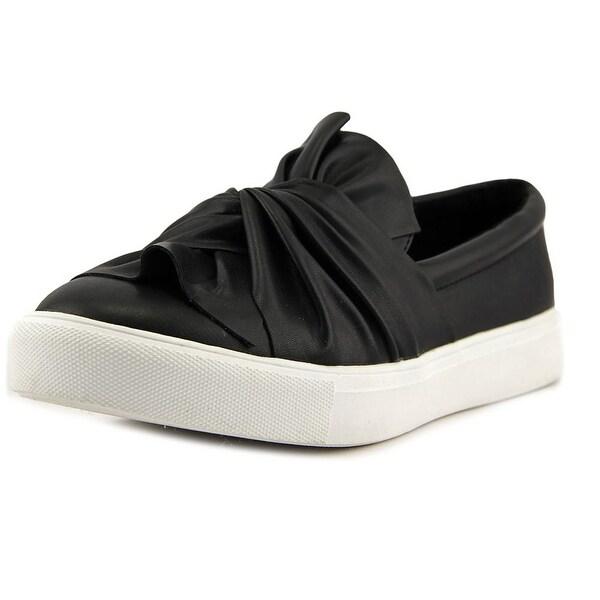 Mia Zoe Women Leather Black Fashion Sneakers