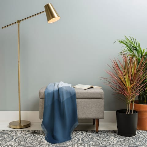 Deny Designs Blue Peaks Woven Throw Blanket (50 in x 60 in)