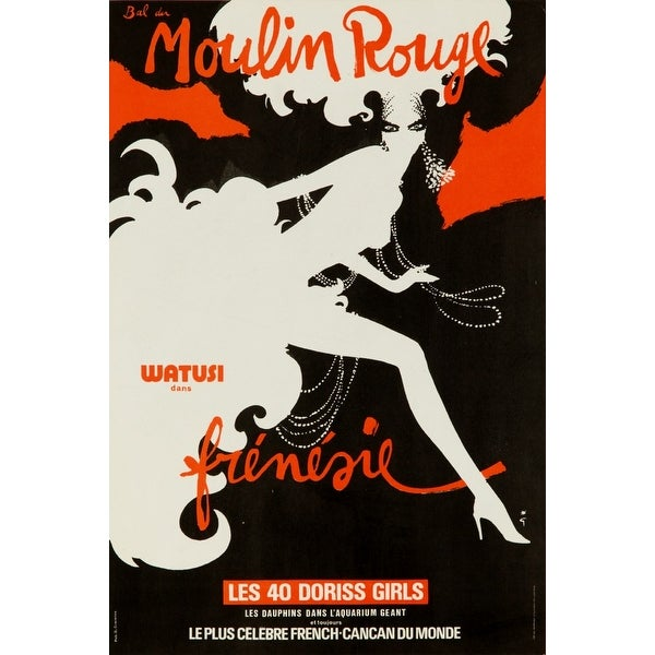 France Moulin Rouge Frenesie Gruau 1978 Vintage Ad (Light Switchplate Cover)