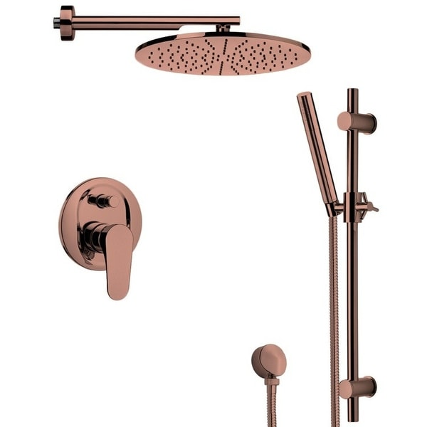 Nameeks SFR7501 Remer Shower System with Multi Function Rain Shower Head, Hand Shower, Slide Bar, and Rough In