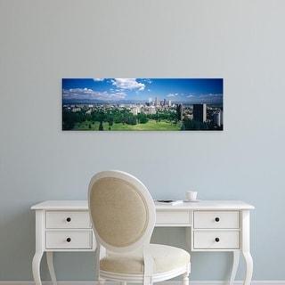 Easy Art Prints Panoramic Images's 'High angle view of a city, Denver, Colorado, USA' Premium Canvas Art