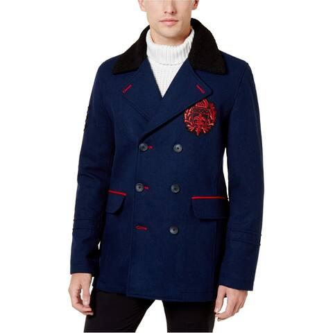 I-N-C Mens Fleece-Lined Collar Pea Coat