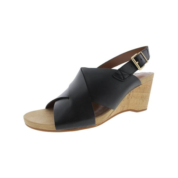 Easy Spirit Womens Lacene Wedge Sandals Leather Slingback