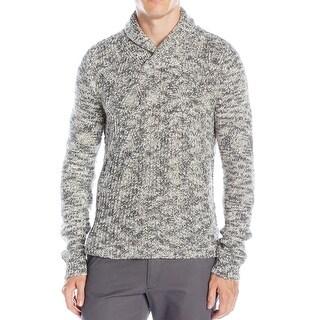 Calvin Klein NEW Gray Men Size Large L Shawl-Collar Marled-Knit Sweater