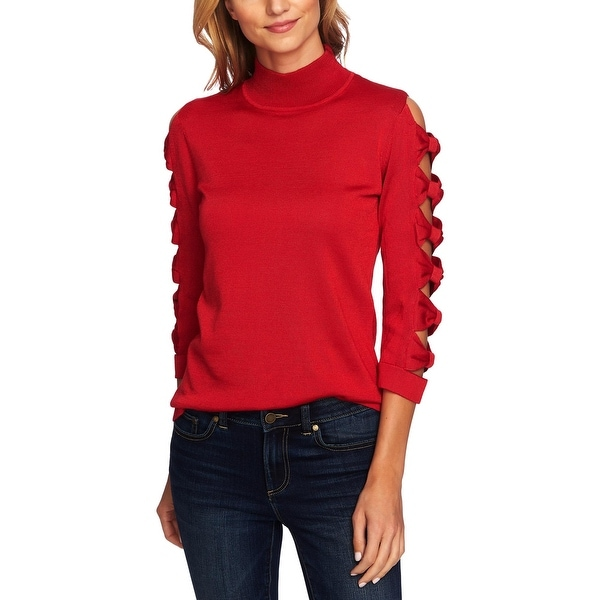 Shop CeCe Womens Pullover Sweater Turtleneck Casual
