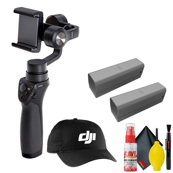DJI Osmo Mobile Gimbal Stabilizer - DJI Cap - Battery 2 Total - Clean. Opens flyout.