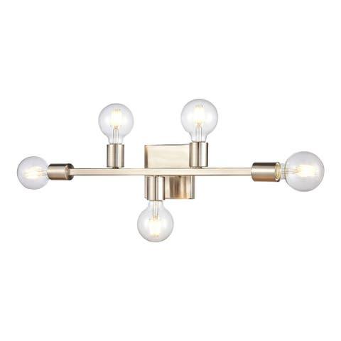Attune 5-Light vanity light in Satin Nickel