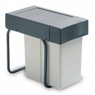 Richelieu 2260 226 Series Bottom Mount Single Bin Trash Can with Full Extension Slides - 21.1 Quart Capacity - Grey