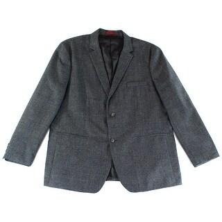Alfani NEW Black Men 2XL Textured Slim Two Button Blazer Sportcoat