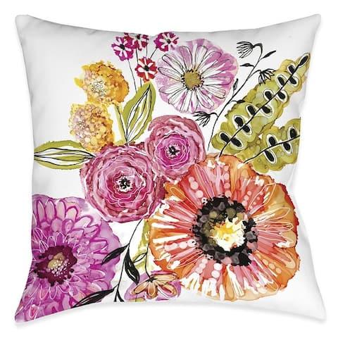 Springtime Florals Outdoor Pillow