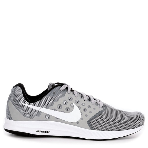 8201769981c46 Shop Men s Nike Downshifter 7 Running Shoe Wolf Grey White Black ...