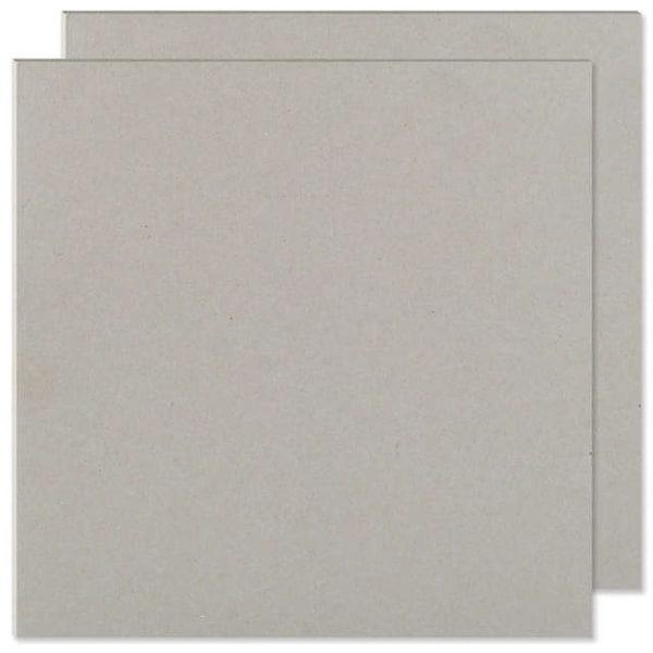 "Cinch Book Board 6""X6"" 2/Pkg-Gray Chipboard"