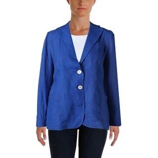 Lauren Ralph Lauren Womens Casual Blazer Linen Button Front