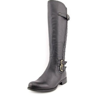 Naturalizer Jamon Women Round Toe Leather Black Knee High Boot