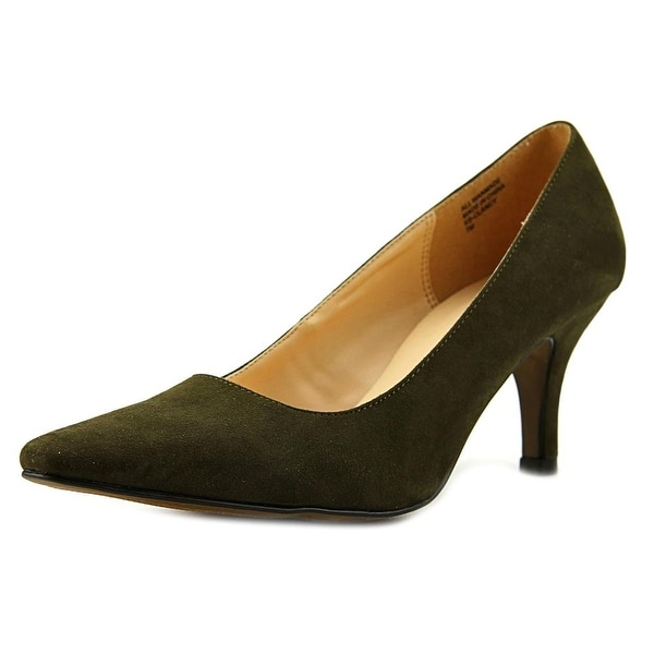 Karen Scott Clancy Women Pointed Toe Synthetic Green Heels