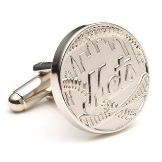 Silver Plated New York Mets Silver Edition Cufflinks