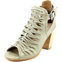 Charles By Charles David Coll Women  Open-Toe Leather Gray Slingback Heel