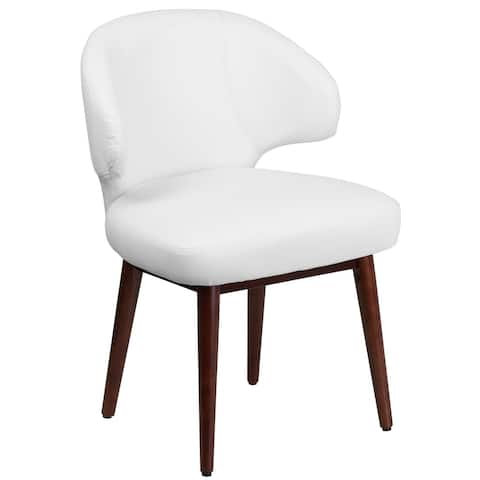 "Comfort Back Series Side Reception Chair with Walnut Legs - 23.5""W x 24""D x 33.75""H - 23.5""W x 24""D x 33.75""H"