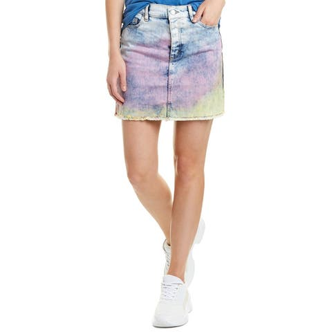 Zadig & Voltaire Juicy Tie And Dye Denim Mini Skirt