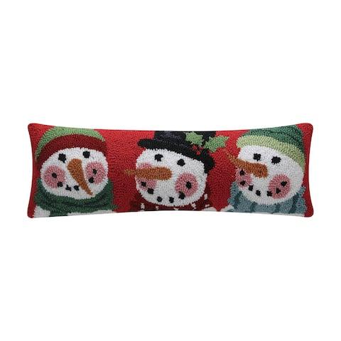 Snowman Trio Hook Pillow