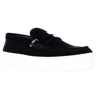 MICHAEL Michael Kors Poppy Slip On Platform Loafer Sneakers - Black