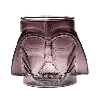 Icup Star Wars Darth Vader Head Shaped Drinking Glass - 21 oz. Gray Colored Tumbler