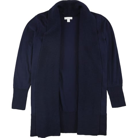 Charter Club Womens Ribbed Cardigan Sweater