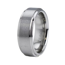 Cobalt Chrome Ring Wedding Band w/ Step Down Edge