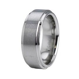 Cobalt Chrome Ring Wedding Band w/ Step Down Edge