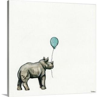 """""""Nursery Rhino"""" Canvas Wall Art"""