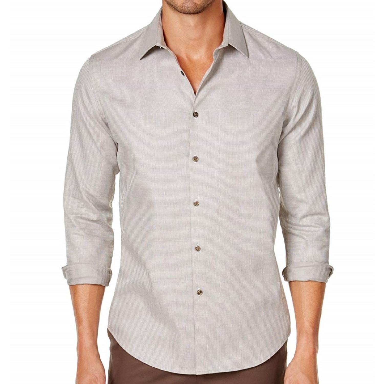Tasso Elba Mens Woven Regular Fit Button-Down Shirt