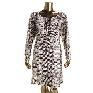 MICHAEL Michael Kors Womens Plus A Line Long Sleeve Wear to Work Dress - 3X