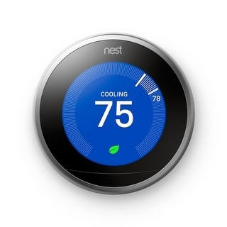 Google Nest Learning Smart Thermostat 3rd Generation Stainless Steel - Stainless Steel (Stainless Steel)