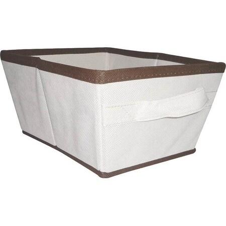 Homebasix 05000951N Storage Bin, Tan