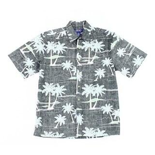 Ono & Company NEW Men's Black Size Small S Palm Tree Button Down Shirt
