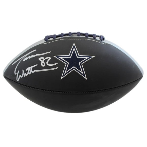 best service 4fed5 f0f16 Jason Witten Autographed Dallas Cowboys Black Logo Football JSA