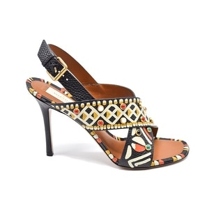 Valentino Womens Primitive Indian Print HighHeel Sandals Size 39 /9