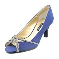 Caparros Womens Endear Satin Open Toe Classic Pumps