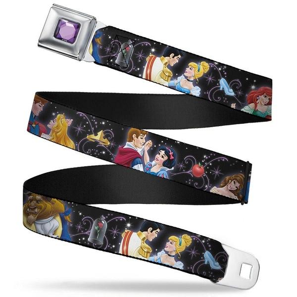 Princess Gem Close Up Full Color Purple Disney Princesses & Prince's Seatbelt Belt