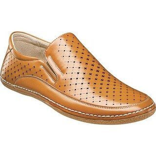 Stacy Adams Men's Northpoint Moc Toe Slip-On 25183 Natural Synthetic
