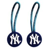 New York Yankees Zipper Pull Charm Tag Set Luggage Pet ID MLB