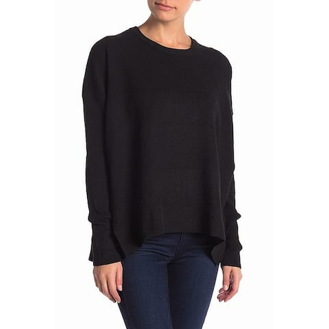 Sweet Romeo Women's Black Size XS High Low Pullover Crewneck Sweater