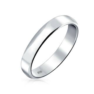 Bling Jewelry 925 Sterling Silver Uni Wedding Band 4mm