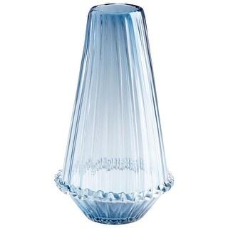 "Cyan Design 09171  Persuasio 7-3/4"" Diameter Glass Vase - Blue"